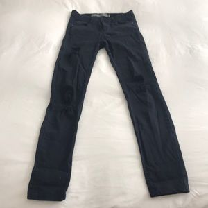 Zara Dark Wash Distressed Denim Jeggings